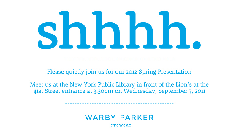 Warby Parker Presentation at NYPL